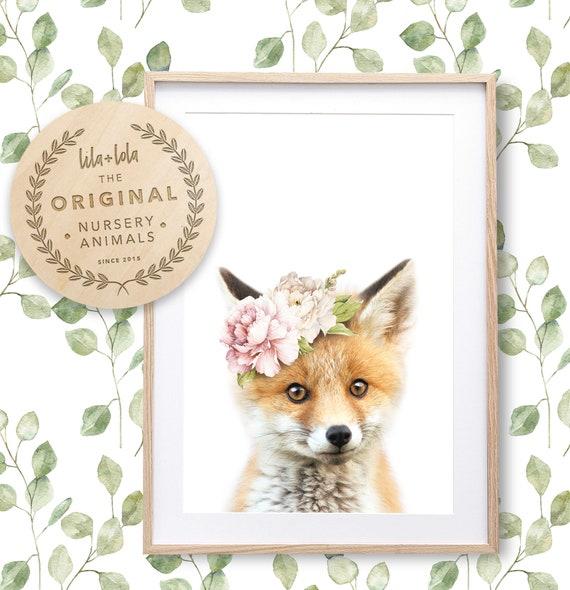 Floral Fox Print - Digital Download