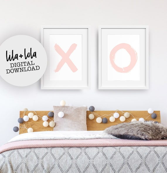 X and O Blush Print Set - Digital Download