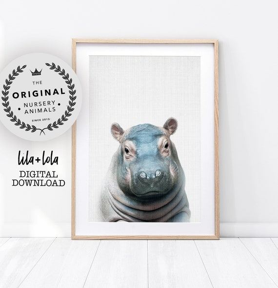 Baby Hippo Print - Digital Download