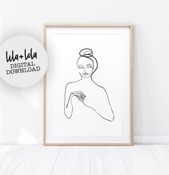 Single Line Art Print - Digital Download