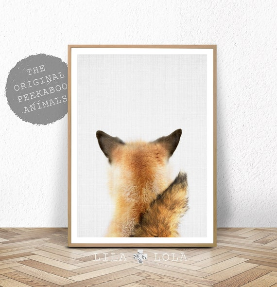 Fox Tail Wall Art Print, Woodland Nursery, Printable Digital Download, Baby Animal, Babies Room Poster, Printable Fox Tail, Woodland Animal