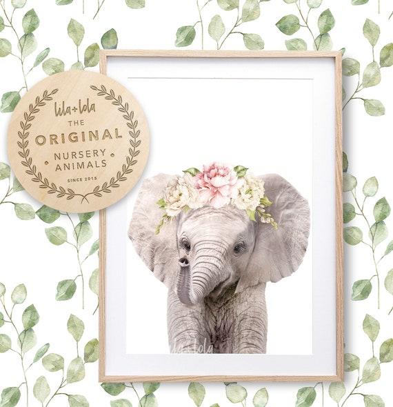 Floral Elephant Print - Digital Download