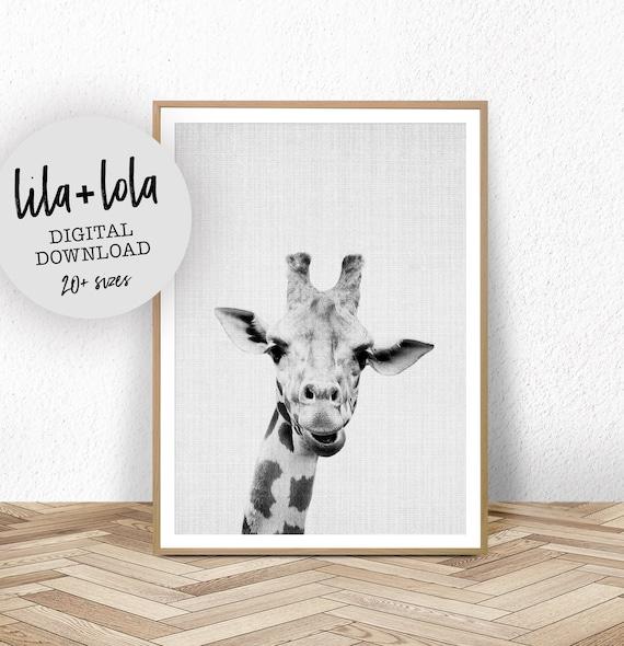 Giraffe Print Safari Nursery Wall Art Decor Large Printable | Etsy