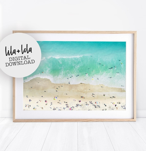 People on the Beach - Printed and Shipped