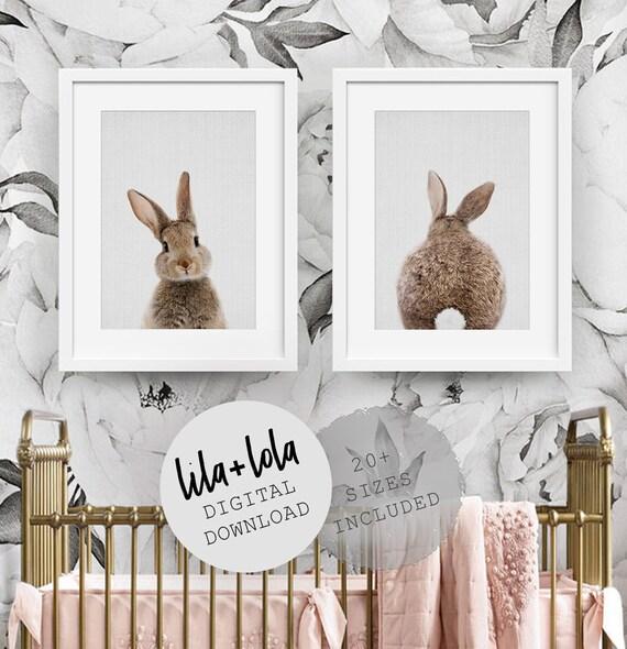 Bunny Rabbit Print Set - Digital Download