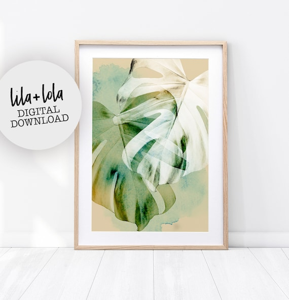 Monstera Leaf Print - Digital Download