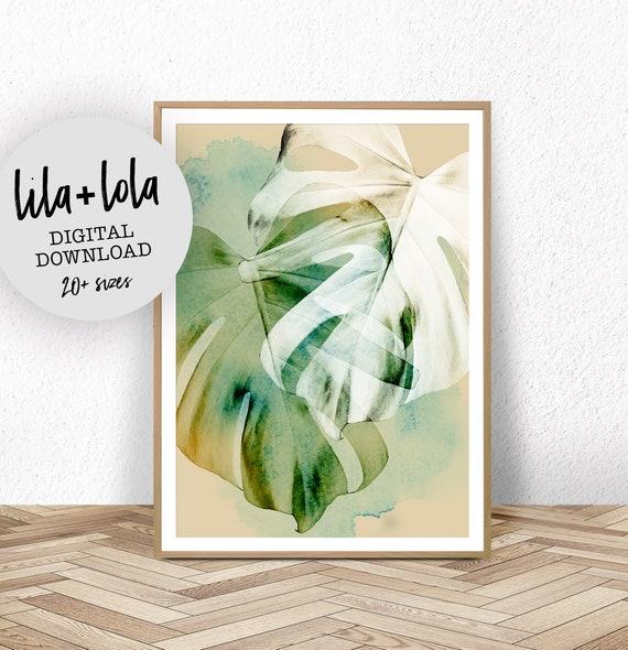 Monstera Leaf Print - Digital Download