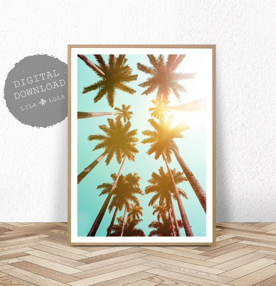 Palm Tree Print, Tropical Wall Art, Printable Digital Download, Hawaii Decor Poster, Palm Tree Photography, Palm Tree Photo, Printable Art