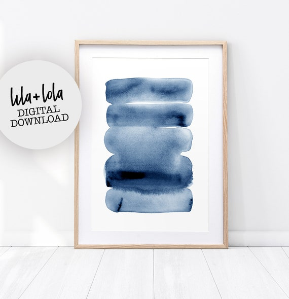 Blue Watercolour Print - Digital Download