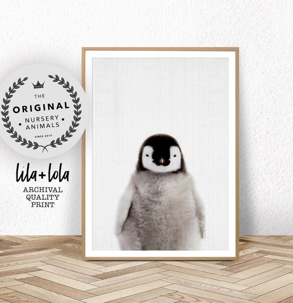 Penguin Print, Nursery Wall Art, Baby Animal Prints, Nursery Decor, Large Wall Art, Penguin Gift, Babies Room Poster