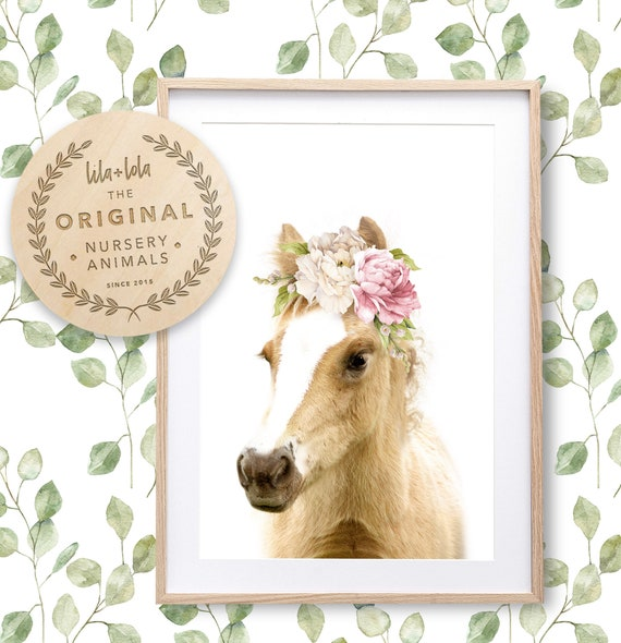 Floral Foal Print - Digital Download