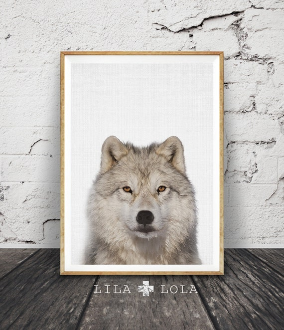 Wolf Print, Woodlands Nursery Wall Art, Snow, Winter Decor, Large Kids Room Poster, Forest Animal, Printable Instant Digital Download