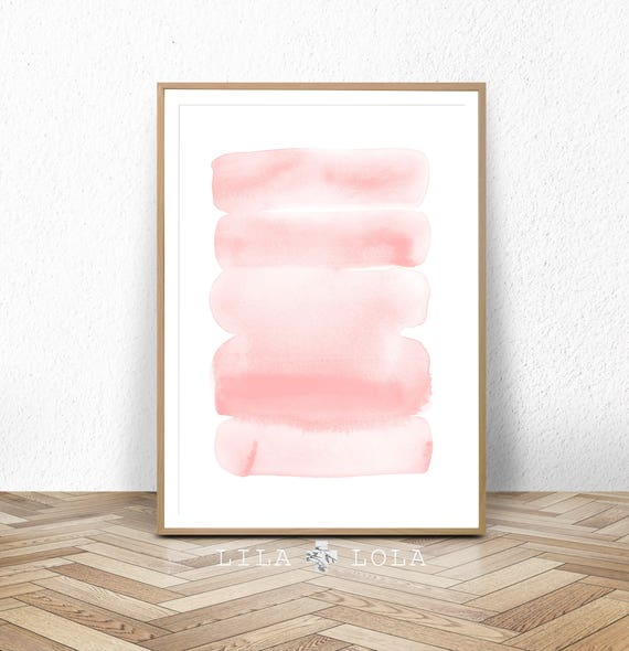 Blush Pink Wall Art Print, Digital Download, Abstract Watercolor Painting, Large Printable Poster Modern Minimalist Girls Nursery Room Decor