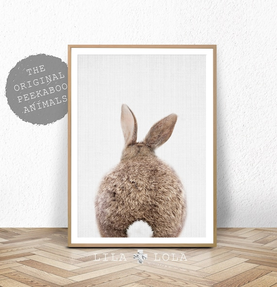 Peekaboo Bunny Rabbit Tail Print - Digital Download