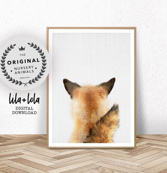 Baby Fox Tail Print - Digital Download