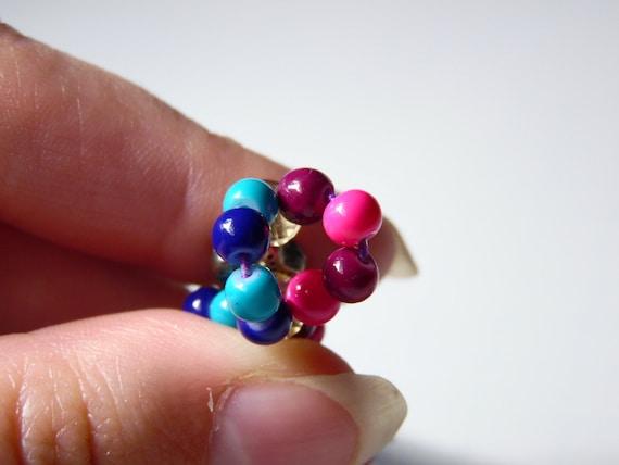 women/'s jewelry handmade jewelry beaded jewelry sets purple /& blue crackle beaded bracelet and dangle earring set girl/'s jewelry
