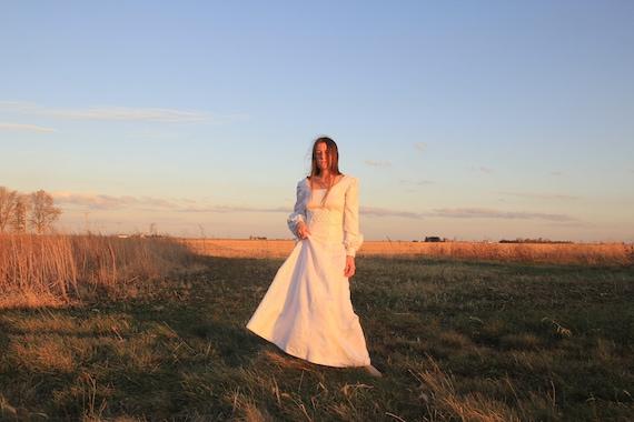 Bishop sleeve gown!
