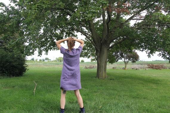 Lavender Silk button-down shirt dress
