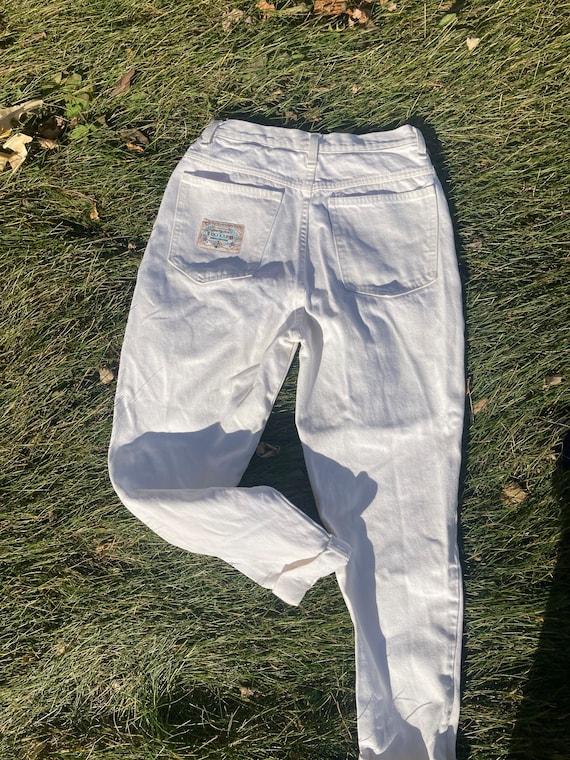 High rise Bonjour white jeans 28'' waist