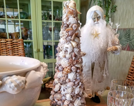 Exquisite Seashell Topiary Tree