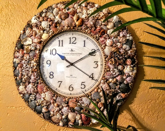 Estate Series Large Seashell Wall Clock