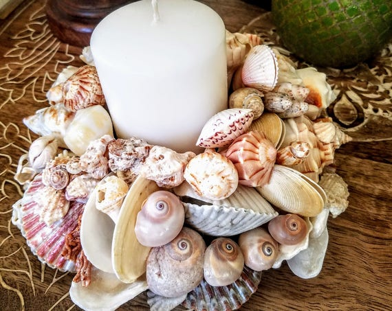 Deluxe Seashell Blossoms Centerpiece 3 Tier