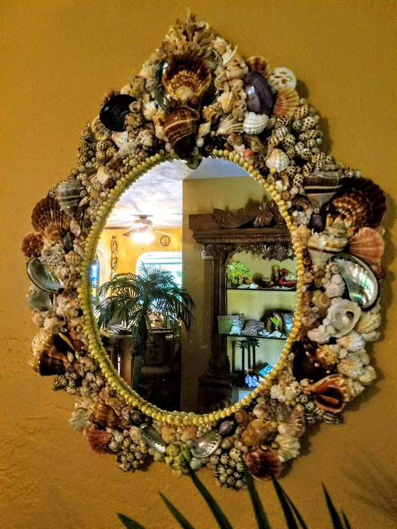 Large Baroque Estate Series Seashell Mirror