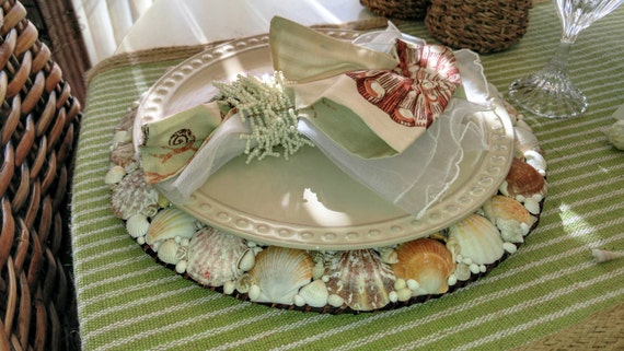 Seashell Plate Chargers (Set of 4)