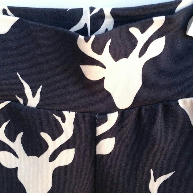 6a7243ea70aa Deer Head Gray Baby Leggings Navy Deer Baby Leggings Deer