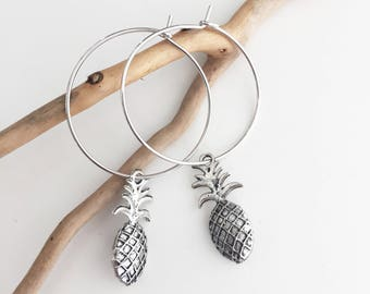 Pineapple pendant earrings