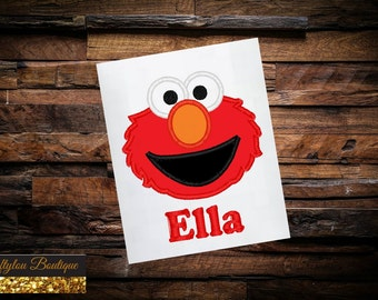 Elmo Shirt Embroidered Toddler T-shirt, Embroidered T-shirt