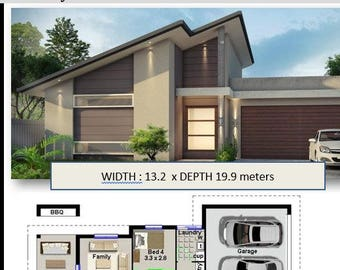builders brochures   |  Affordable Architecture Design for Australian Builders & Contractors 220 m2 | 4 Bed Narrow Lot House Plan|