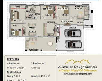 182.2 m2 Violet   | Narrow Lot 4 Bedroom Concept house plans | For Sale