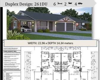 6 Bedrooms duplex design | Dual Living house plans Concept plans For Sale  | 261 m2