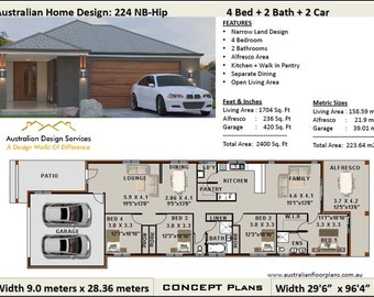 101.2 m2 or 1089 sq foot Australian 2 Bedroom house plan / | Etsy on