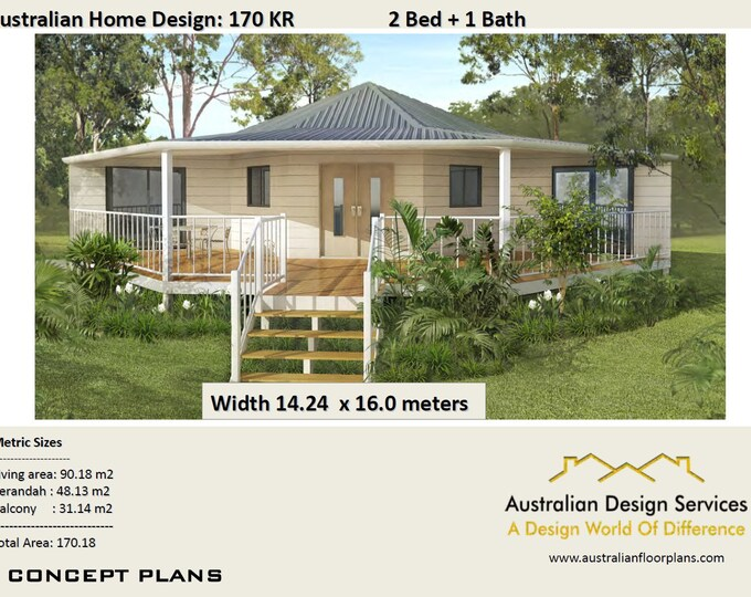 1830 sq feet or 170 m2 | 2 Bedroom | 2 bed granny flat | small home design | 2 Bedroom Granny Flat |Modern home | small tiny | round home