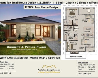1 & 2 Bedroom Small and Tiny House Plans Best Selling House