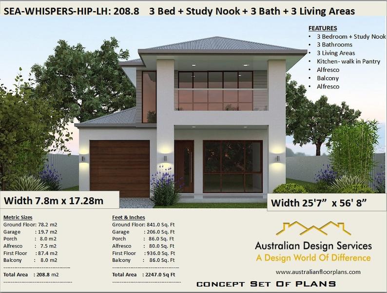 Fine 208 M2 2247 Sq Feet 2 Storey House Design Two Storey Floor Plans 2 Story Home Design Modern 2 Storey Narrow Lot 2 Storey House Interior Design Ideas Grebswwsoteloinfo