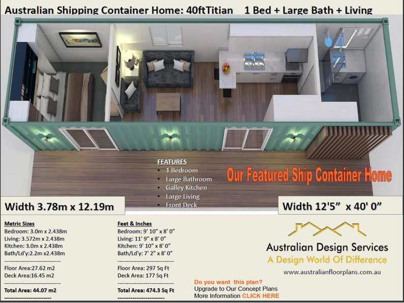 1 & 2 Bedroom Small and Tiny House Plans, Granny Flats + Small Homes + Ship  Container Homes Plans NEW 2019 ! Release house plans australia