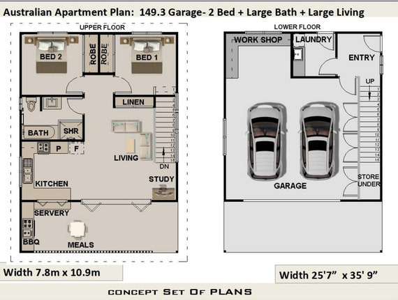 2 Bedroom 2 Bath Garage Apartment Plans - Apartment Poster