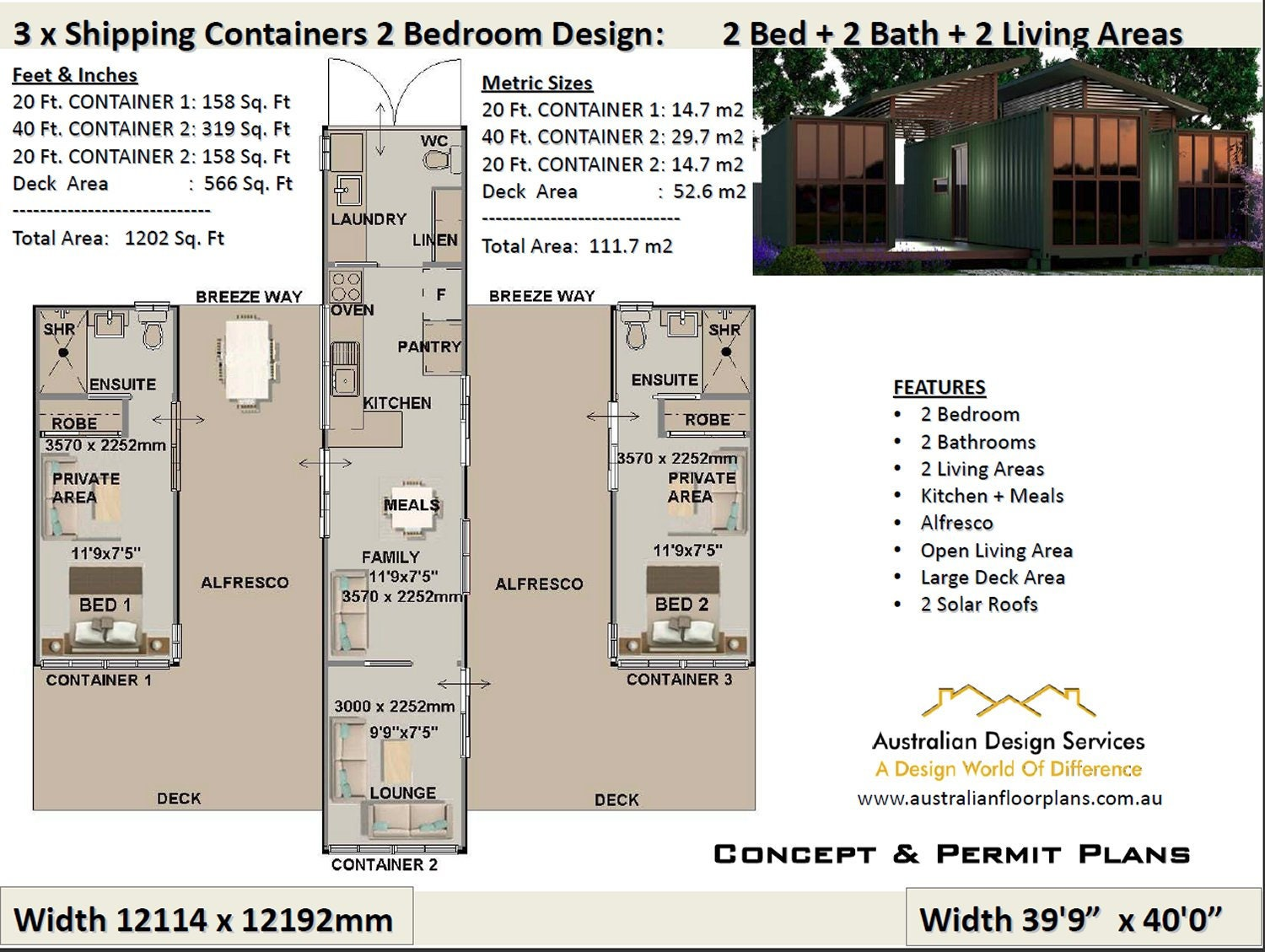 Pleasing 2 Bedroom Shipping Container House Plans 2 Bed Container Homes Plans House Plans Container Home Usa Feet Inches Australian Metric Complete Home Design Collection Papxelindsey Bellcom