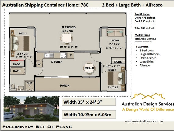 Ship Container House Plans 3 Containers Shipping Containers Etsy