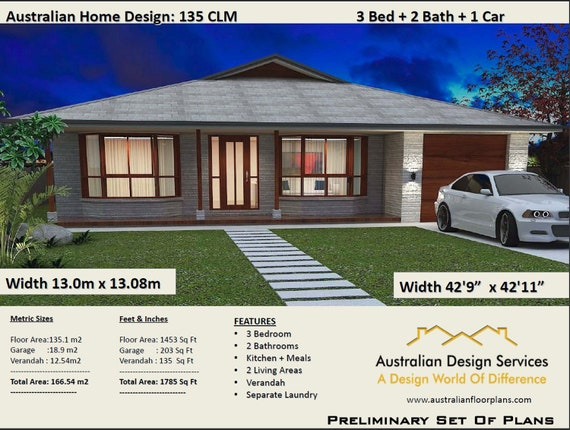 Country Style 3 Bedroom Plans 166m2 1785 Sqft 3 Bedroom House Plans Australia 3 Bed House Plans Modern 3 Bed Concept House Plans