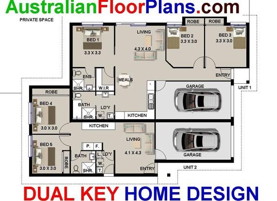 Brilliant Duplex Plans Australia 183M2 5 Bed Dual Key Home Design 3 X 2 Bed Dual Key Design Dual Blueprint Modern Duplex Design Beutiful Home Inspiration Xortanetmahrainfo