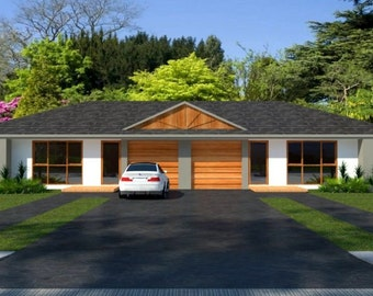190 m2 | 4 Bedrooms duplex design |  2 x 2 bedroom duplex plans | 4 bedroom duplex | modern 4 bed duplex plans | Australian 4 bedroom Duplex
