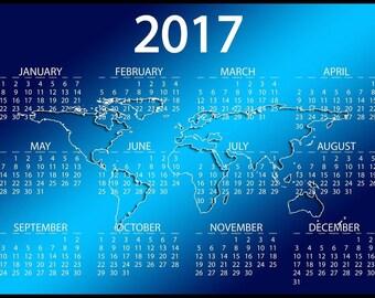 2017 Calendar | decor Calendar poster  | wall poster Calendar| cheap Calendar wall poster | home decor |  Calendar poster | entry poster