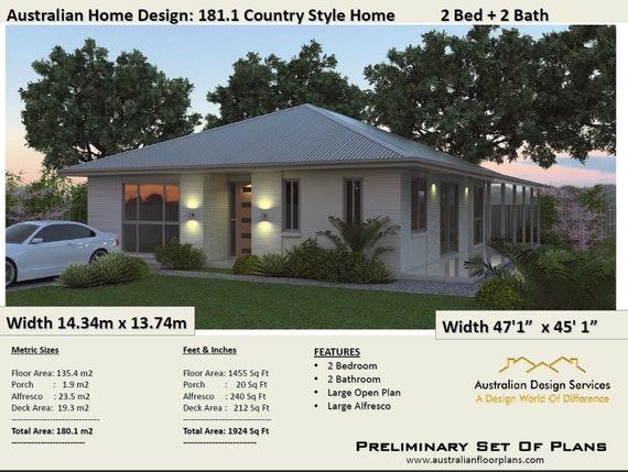 2 Bedroom House Plans Australia 180m2 1924 Sq Ft Homestead 2 Bedroom Home Plan 2 Bedroom Country Homestead 2 Bedroom 2 Bath House