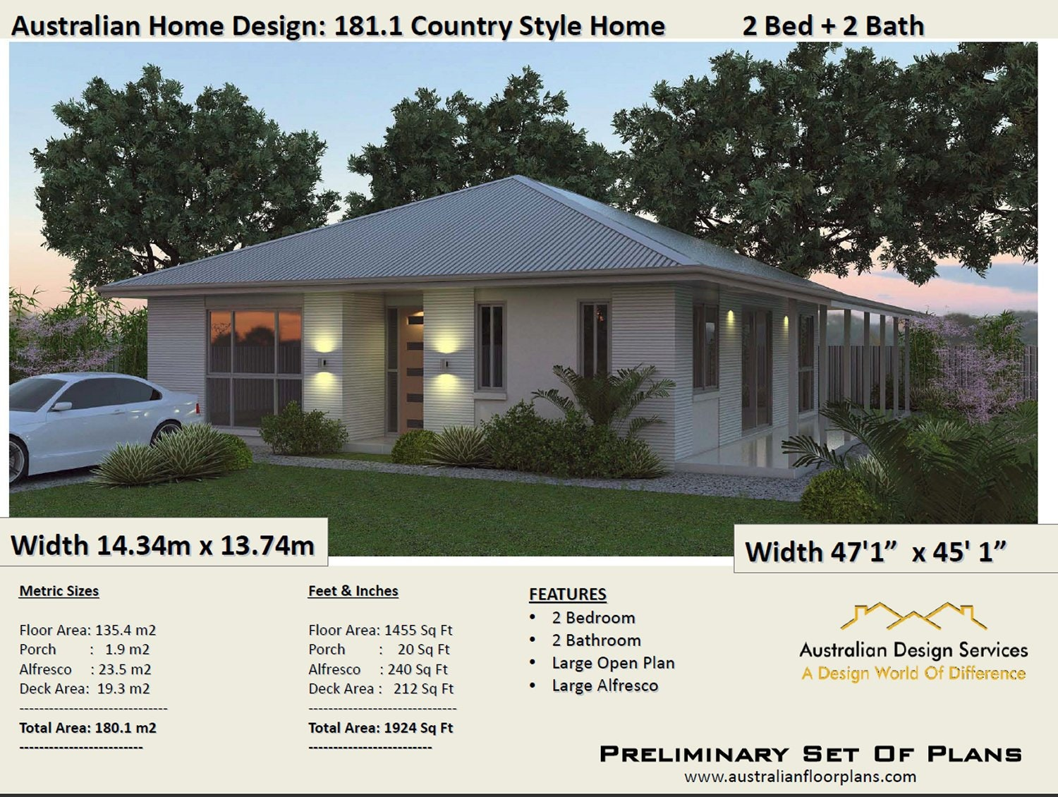 2 Bedroom House Plans Australia 180m2 1924 Sq Ft Homestead 2