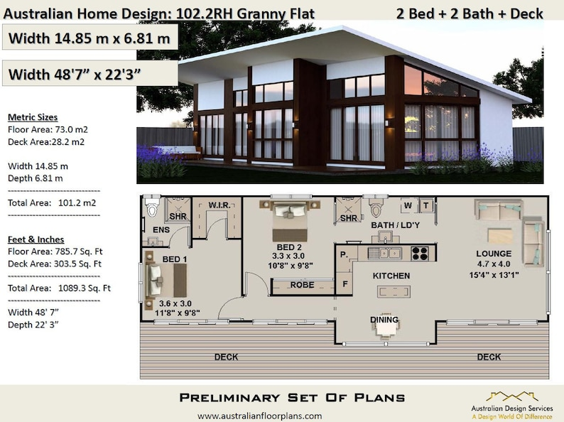 Astounding Small 2 Bedroom House Plan 101 2 M2 Or 1089 Sq Foot Small And Tiny House Plans Metric Or Feet And Inches Concept Blueprints Crazy Sale Home Interior And Landscaping Staixmapetitesourisinfo