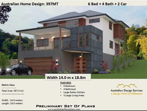 48MT Modern Concept House Plans For Sale 48 Bedrooms Etsy Cool 3 Bedrooms For Sale Set Plans